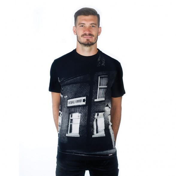 Football Ground Sign T-Shirt | Black