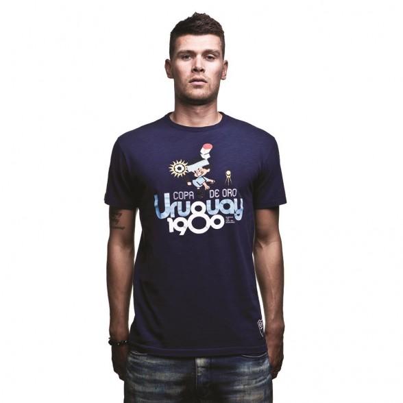 Uruguay 1980 Vintage T-Shirt   Marine Blue