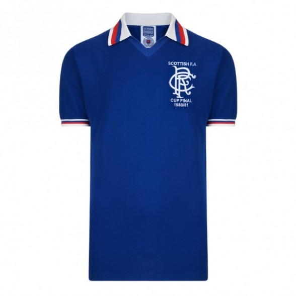 Maillot rétro Glasgow Rangers 1980/81
